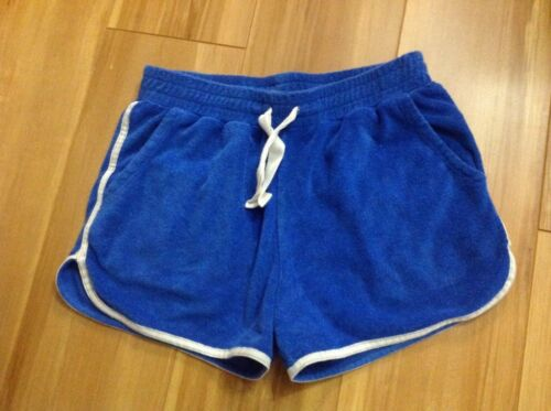 CREWCUTS j crew girls Blue Terry Pull On Shorts. Size 14