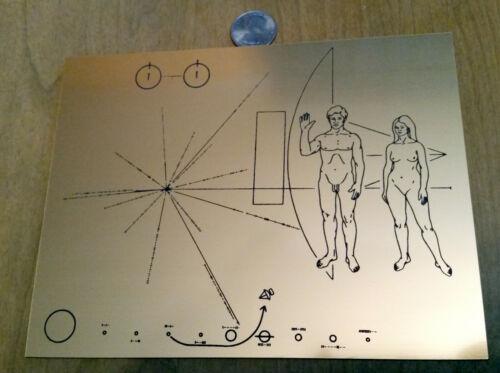 NASA Pioneer Spacecraft Plaque 1972