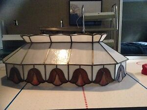 Stained glass pool table light