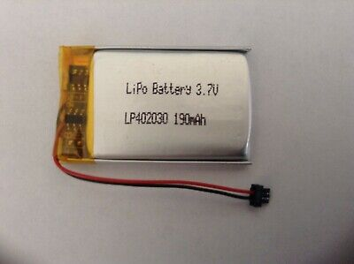 Lithium-Polymer Rechargeable LP-402030 Battery 3.7V 190mAh Cell - Ships from USA