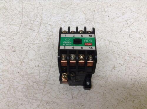 Matsushita BMF6-10-4-2 FC-10 Magnetic Contactor 200-220 VAC Coil BMF61042 FC10