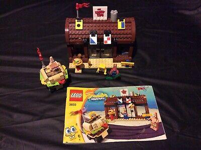 LEGO 3833 - SPONGEBOB Krusty Krab Adventures - Complete w/ Minifigures & Manual