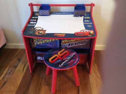 Disney Cars Art Desk with Storage and Stool Greenwood Joondalup Area Preview
