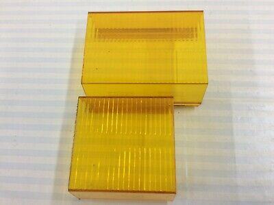 Whelen 9000 9m9u Amber Lenses 1 Pair 1 4-216 1 3-616