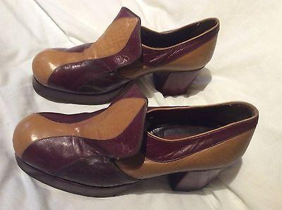 Men's vintage 70's platform shoes