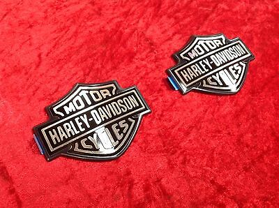 OEM Harley Dyna Sportster Softail Touring Fuel Tank Emblems Badges Right & Left