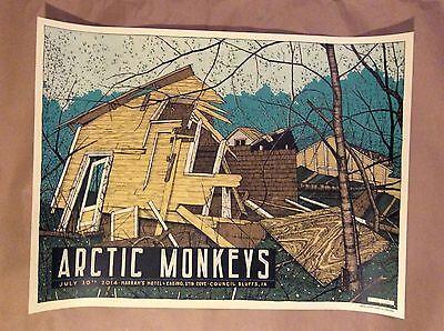 2014 Arctic Monkeys Poster Harrah's Stir Cove Council Bluffs Ia Signed #
