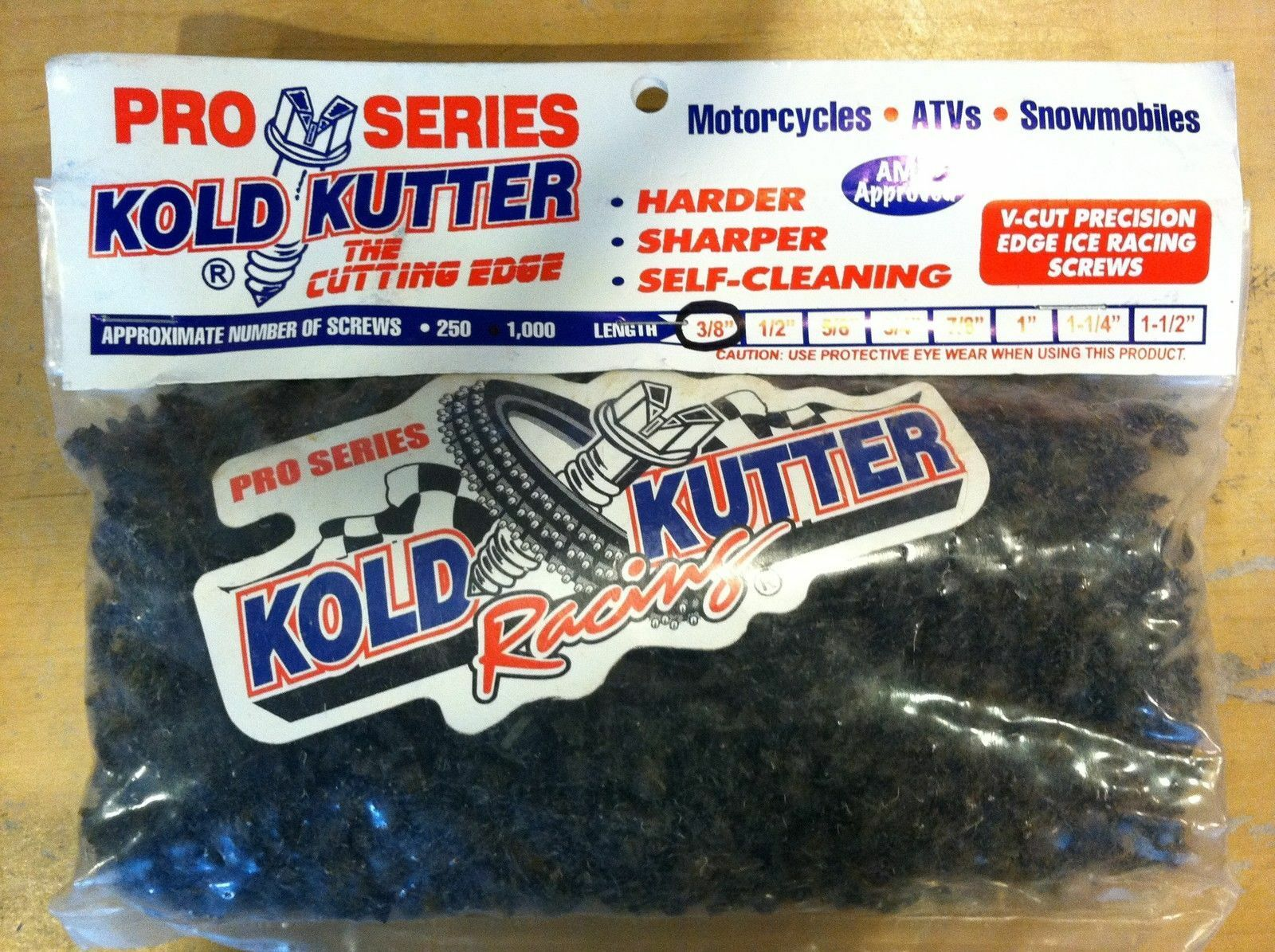 "Kold Kutter Racing 1/2"" 1000 Pack Track Tire Ice Studs Screws Motorcycle Snow"