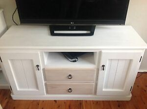 White TV cabinet unit stand cupboard draws dresser sideboard buffet Silverwater Auburn Area Preview