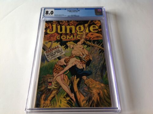 JUNGLE COMICS 93 CGC 8.0 WITCH QUEEN KAANGA CAMILLA TABU FICTION HOUSE COMICS