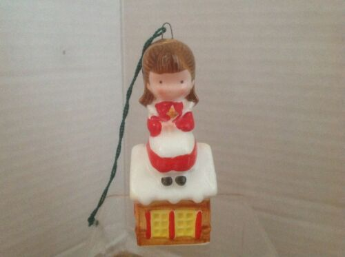 Joan Walsh Anglund Christmas Ornament Girl on Gingerbread House 1979 JAPAN VGC