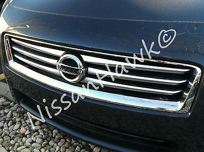 NEW OEM 2009-2014 NISSAN MAXIMA FACTORY BRUSHED ACCENT GRILLE - WITH EMBLEM