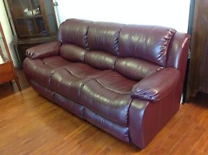 3 Seater Leather Couch Mulgrave Monash Area Preview
