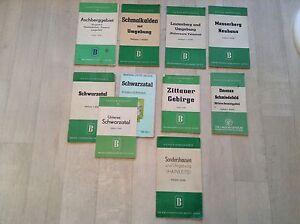 Alter Reiseführer Landkarte Wanderkarte Straßenkarte 10 Stück Konvolut DDR 181#