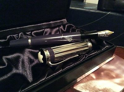 Montblanc charles dickens fountain pen mont blanc 2001 limited edition writer