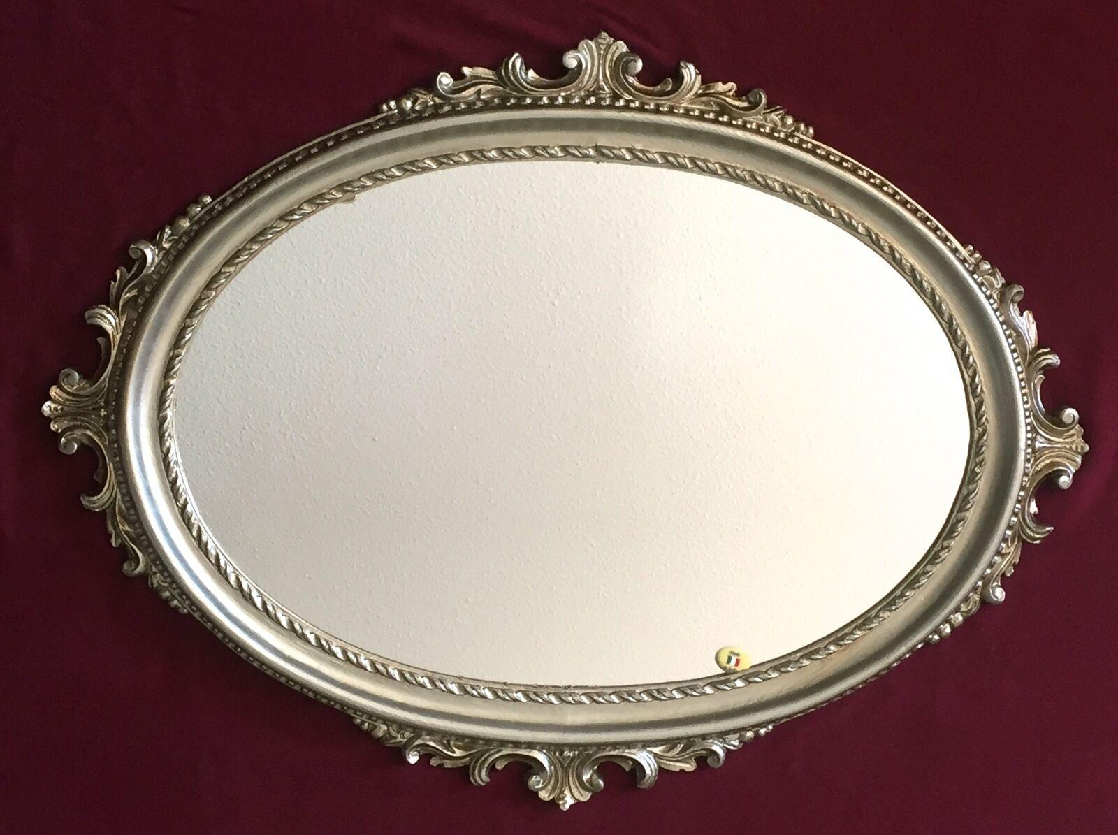 Wandspiegel antik silber oval barock badspiegel spiegel for Spiegel oval silber