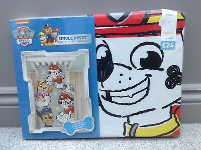 - NEW NEXT Paw Patrol Marshall Chase Single Duvet Bedset Bedding Bedroom RRP £24
