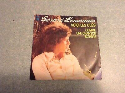 Disque vinyle 45 tours B2 /gérard lenorman,voici les clés