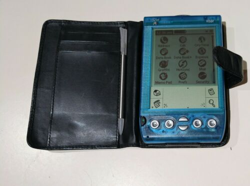 Handspring Visor Blue with Clear Back Handheld PDA