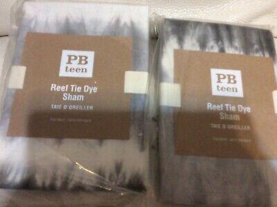 Pottery Barn Teen Two (2) Reef Standard Shams NWT! Gray Tie Dye