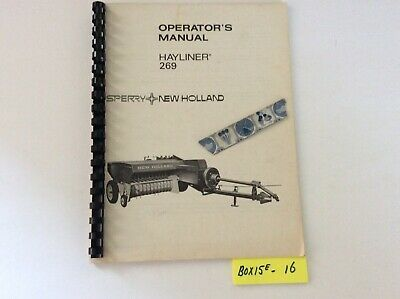 New Holland Hayliner 269 Baler Operators Manual