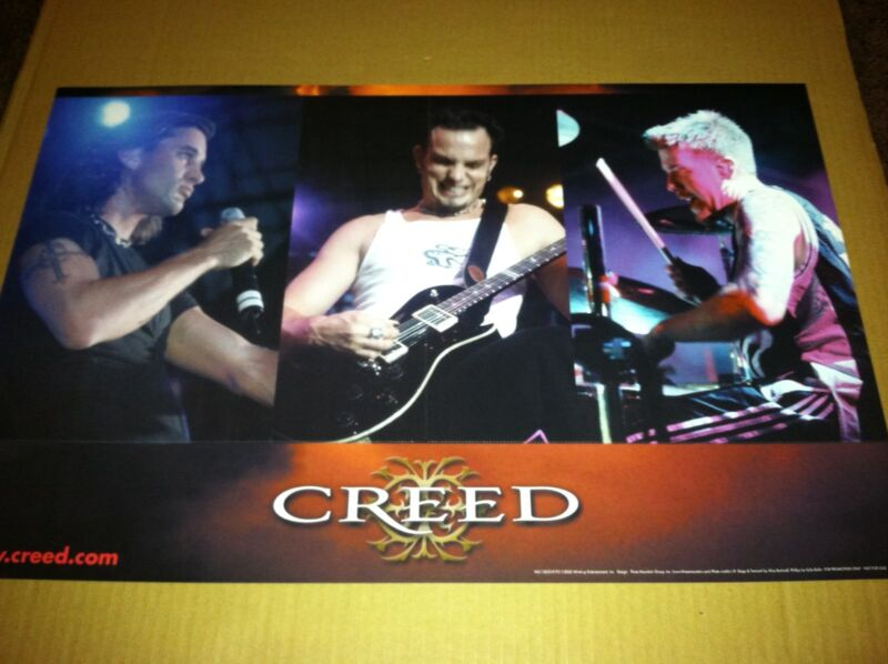 Scott Stapp CREED 1999 PROMO POSTER for Human Clay CD USA MINT  DOUBLE SIDED