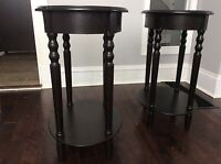 Matching end tables - coffee coloured