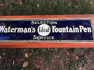 the best Waterman Waterman's Fountain Pen Enameled Sign