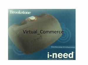 BROOKSTONE i-Need Soothing ineed Shiatsu Foot Massager SPECIAL BUY