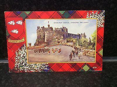 378. Robertson Tartan Edinburgh Postcard