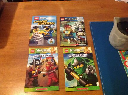 Four awesome, as new, Lego books / readers inc ninjago, chima  Modbury Heights Tea Tree Gully Area Preview