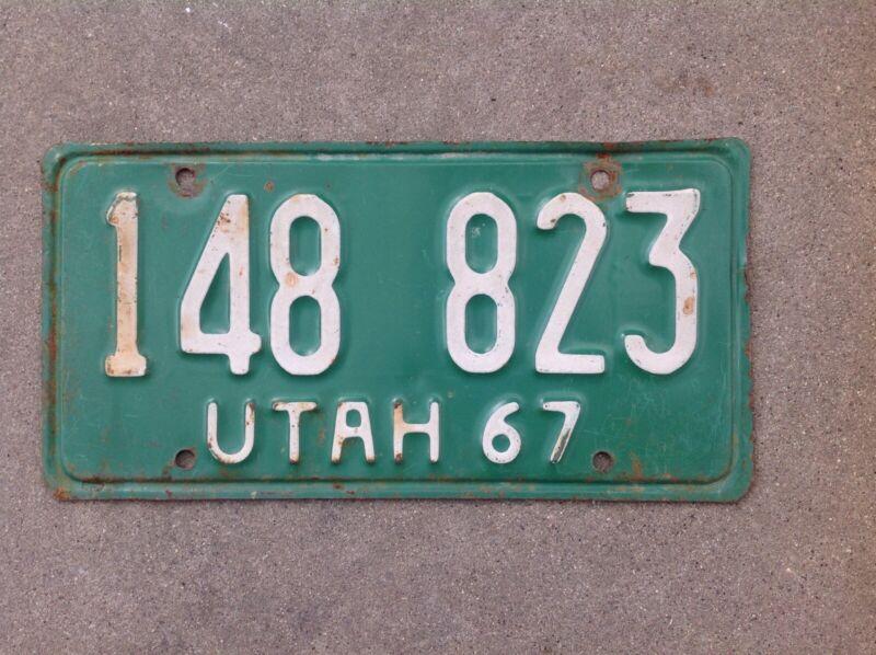 1967 UTAH LICENSE PLATE