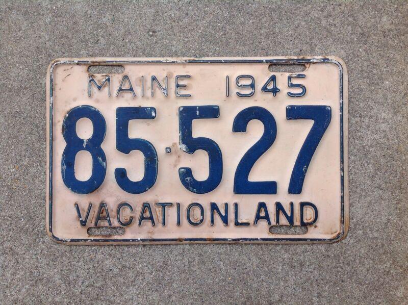 1945 - MAINE LICENSE PLATE