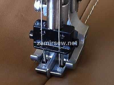 Double Needle Walking Foot Wspring Loaded Center Guide 14 Or 38