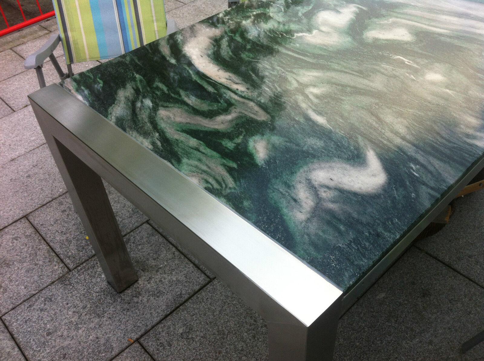 Gartentisch wohnzimmertisch 160x90 naturstein gr n - Wohnzimmertisch stein ...