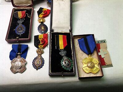 Lot de divers médailles militaires armée belge Belgique medal 213m70(6)
