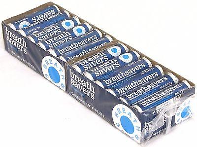 Breath Savers Mint Candy - Breath Savers Peppermint Pack of 24 Rolls Mints Breathsavers Bulk Mint Candy