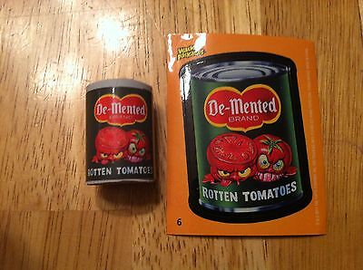 Topps Wacky Packages Eraser Series 1 Demented Monster Rotten Tomatoes  6 Packs