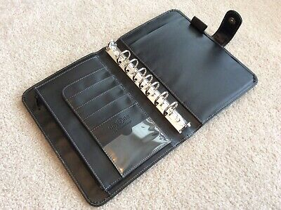 Franklin Covey Day One Classic Black Faux Leather Snap Planner Binder Organizer