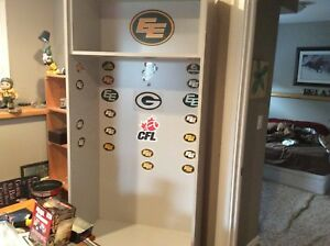 Edmonton Eskimos CFL full size wood locker.    $125