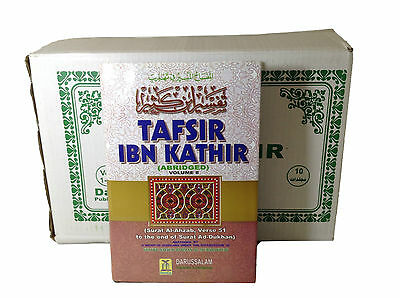 Tafsir Ibn Kathir (10 Vol Set) Arabic/English,Hardcover,Islam,Textbook,Religion