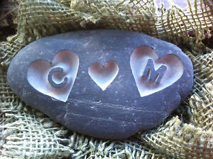 Handmade LOVE Pebble, Personalised initials perfect wedding anniversary gift