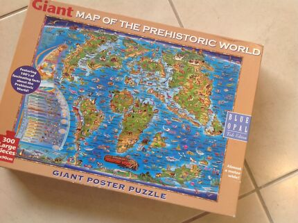 Jigsaw puzzle world map toys indoor gumtree australia jigsaw puzzle 300 large pieces map of the prehistoric world gumiabroncs Images