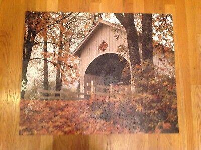 2006 Springbok 1000 Pc Jigsaw Puzzle Covered Bridge Neal Lane Oregon