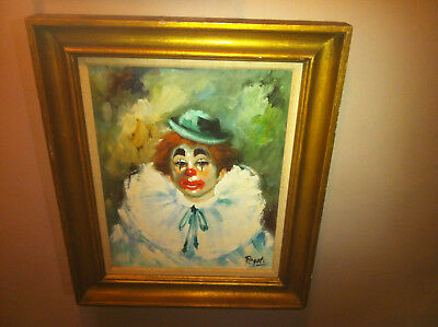 Clown painting   GREAT CONDITION