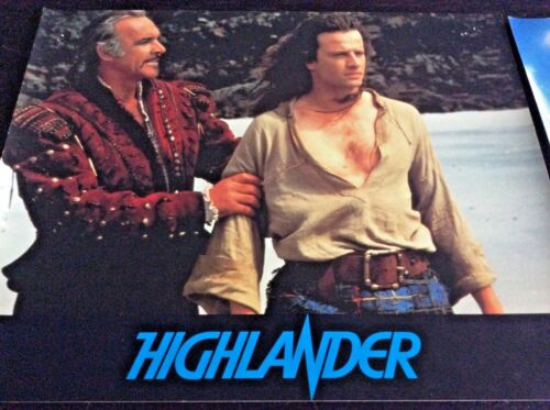 HIGHLANDER  French Lobby Card set of 7  SEAN CONNERY 1986
