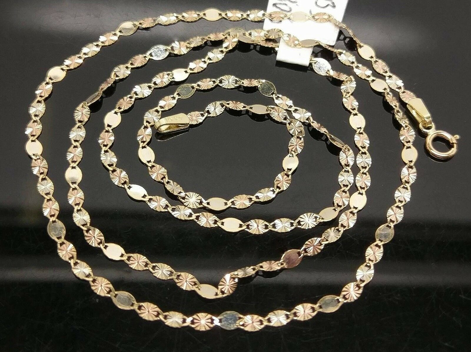 Real 10k Gold chain Necklace Diamond Cut Lobster For ladies/ Women's N