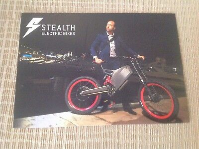 ELECTRIC BIKE POST CARD, HARD GLOSSY, ORIGINAL ITEM, ATTRACTIVE STEALTH