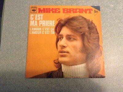 Disque vinyle 45 tours /mike brant, c'est ma prière