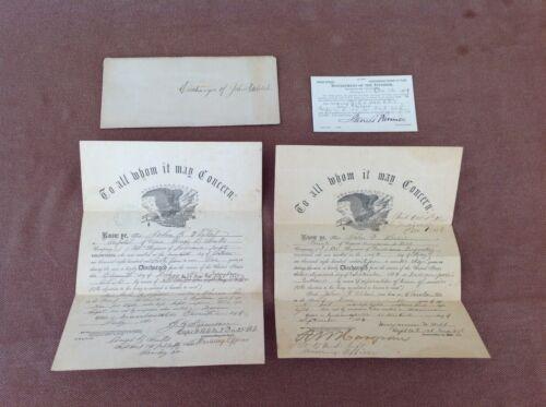 Original Civil War Discharge Papers in Envelope
